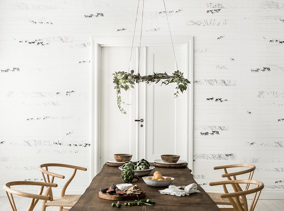 Fotobehang met rendieren via Nordic Moods geinspireerd door de Scandinavische natuur via Photowall