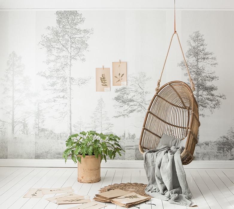 Fotobehang bomen via Nordic Moods geinspireerd door de Scandinavische natuur via Photowall