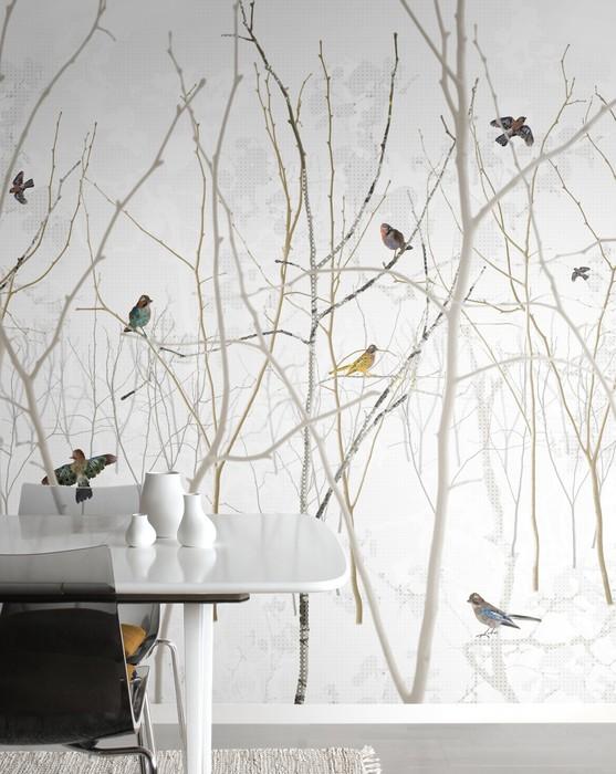 Fotobehang takken en vogels van Nordic Moods geinspireerd door de Scandinavische natuur via Photowall
