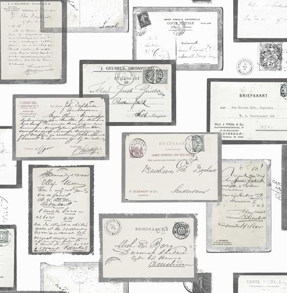 Briefkaarten behang Stapelgoed