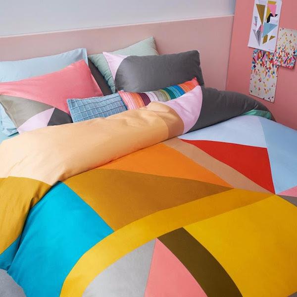 kleurrijke dekbedden