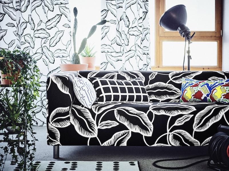 IKEA Avsiktlig limited collectie klippan bank print Jamaica #ikea