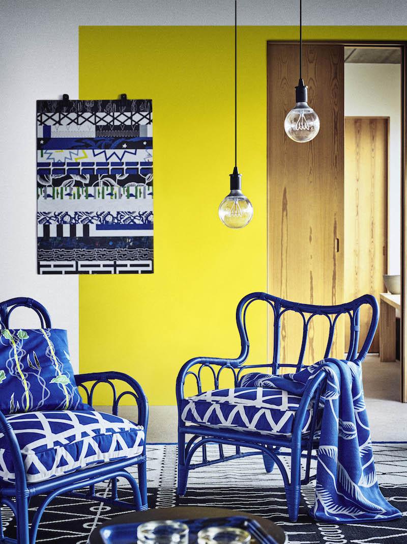 IKEA Avsiktlig limited collectie gestreeot patroon kussens #stoel #ikea