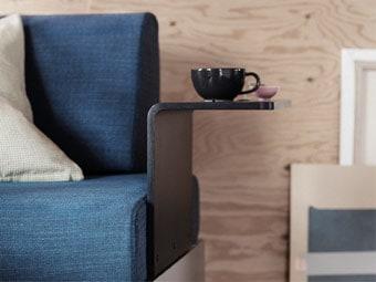 Ikea sofa met side table Delaktig #ikea #zitbank #bank #sidetable