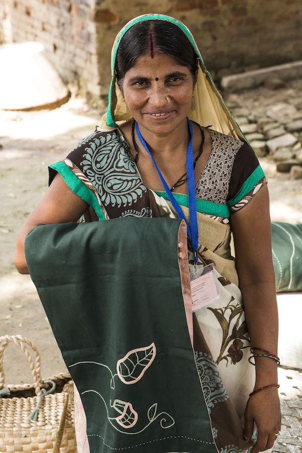 Indiase vrouw met stof IKEA