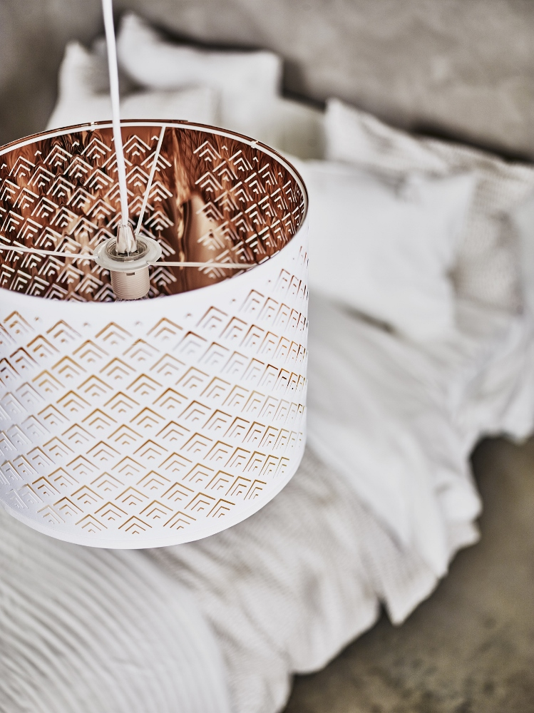 je slaapkamer met een andere lampenkap. De NYMÖ lampenkappen van IKEA ...