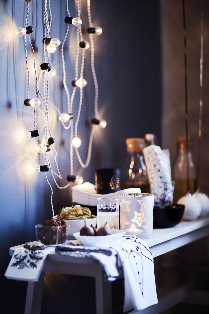 Breng je huis in feestelijke kerstsfeer met de Strala Led-snoer verlichting van IKEA #kerst #kerstversiering