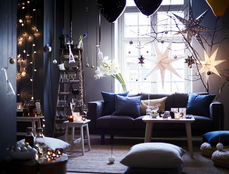 Breng je huis in feestelijke kerstsfeer met de Strala verlichting van IKEA. Led-snoer  #kerst #kerstversiering