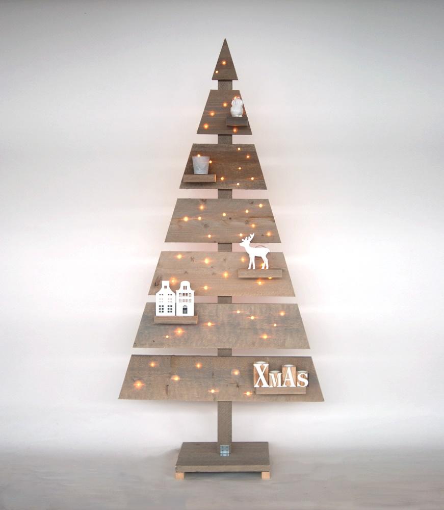 Kersttrend kerstboom van steiger hout nieuws for Houten bankje steigerhout