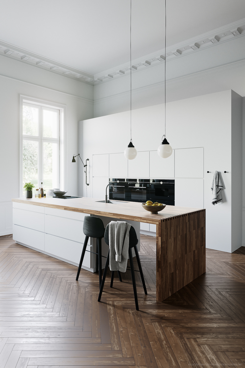 Keukentrends. Keuken als ontmoetingsplek. Witte keuken Mano van Kvik #keuken #keukentrends #kookeiland #wittekeuken #kvik #inspiratie