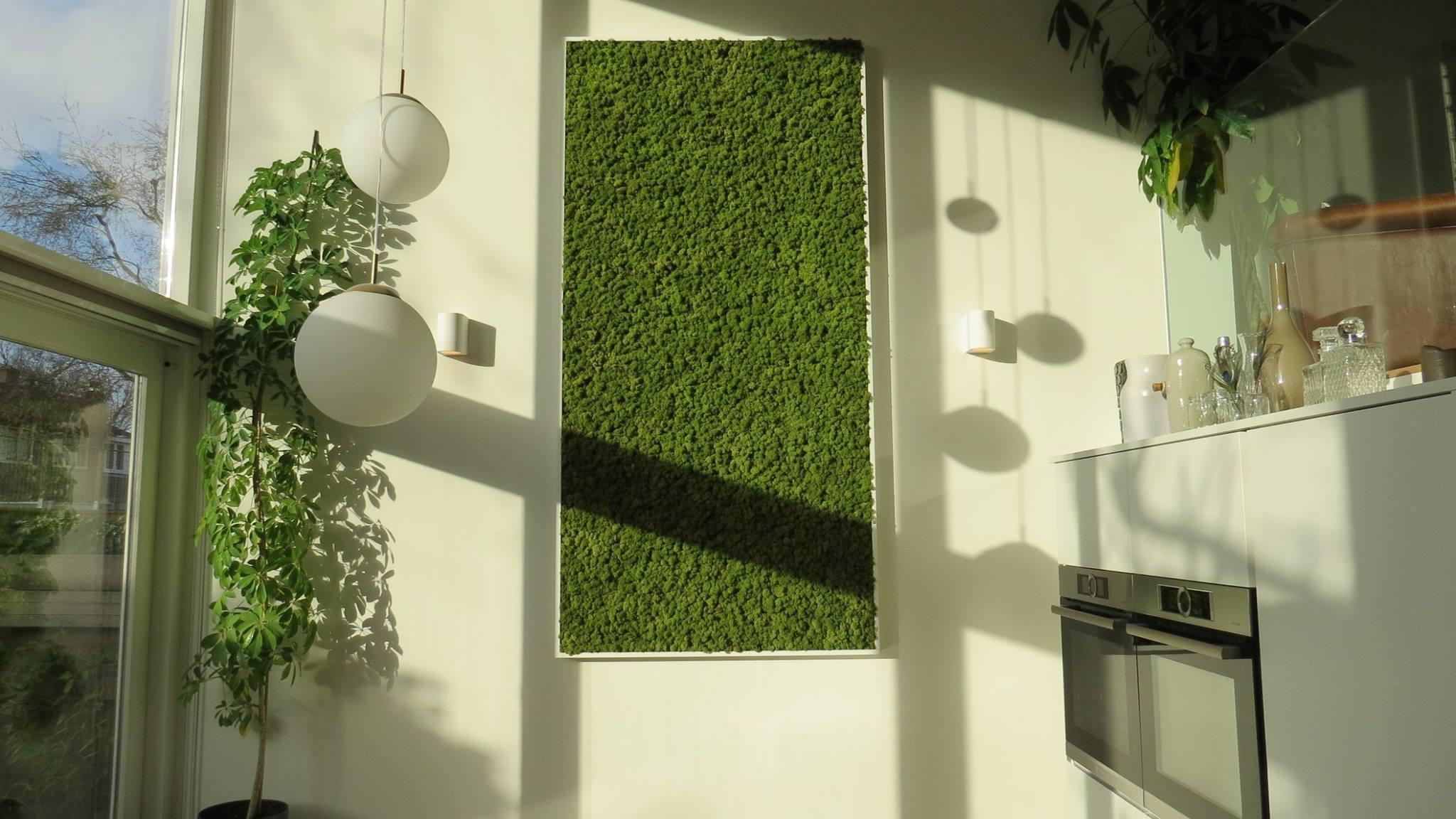 Moswens mosschilderij in woning #groen #schilderij #interieur