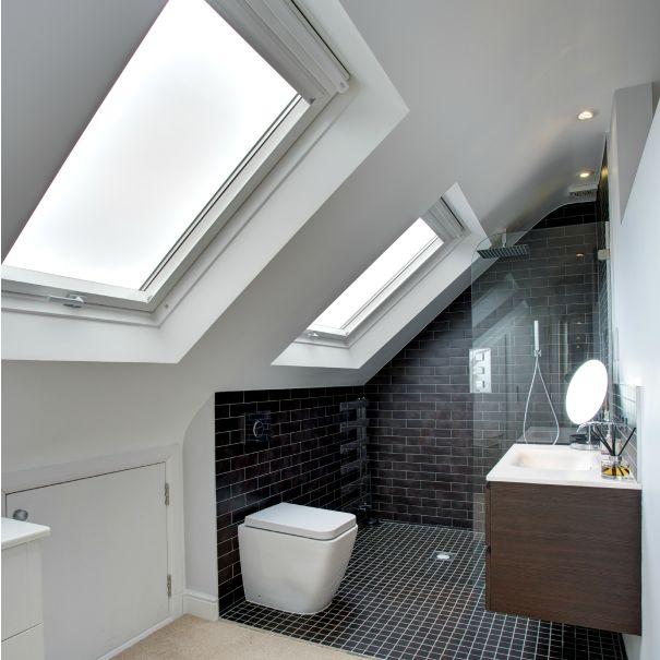 Badkamer op zolder via landmark-lofts.com